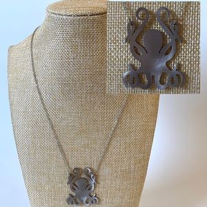 Jewelry - Octopus Silhouette Aluminum Pendant Necklace